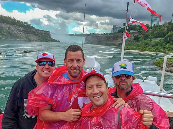 Adam Sandler on the Voyage to the Falls Boat Ride, Adam Sandler on the Niagara Falls tour